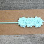 Frayed Fabric Flower Headbands