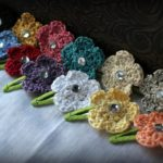Crochet Hair Clips