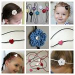 Crocheted Flower and Heart Headbands